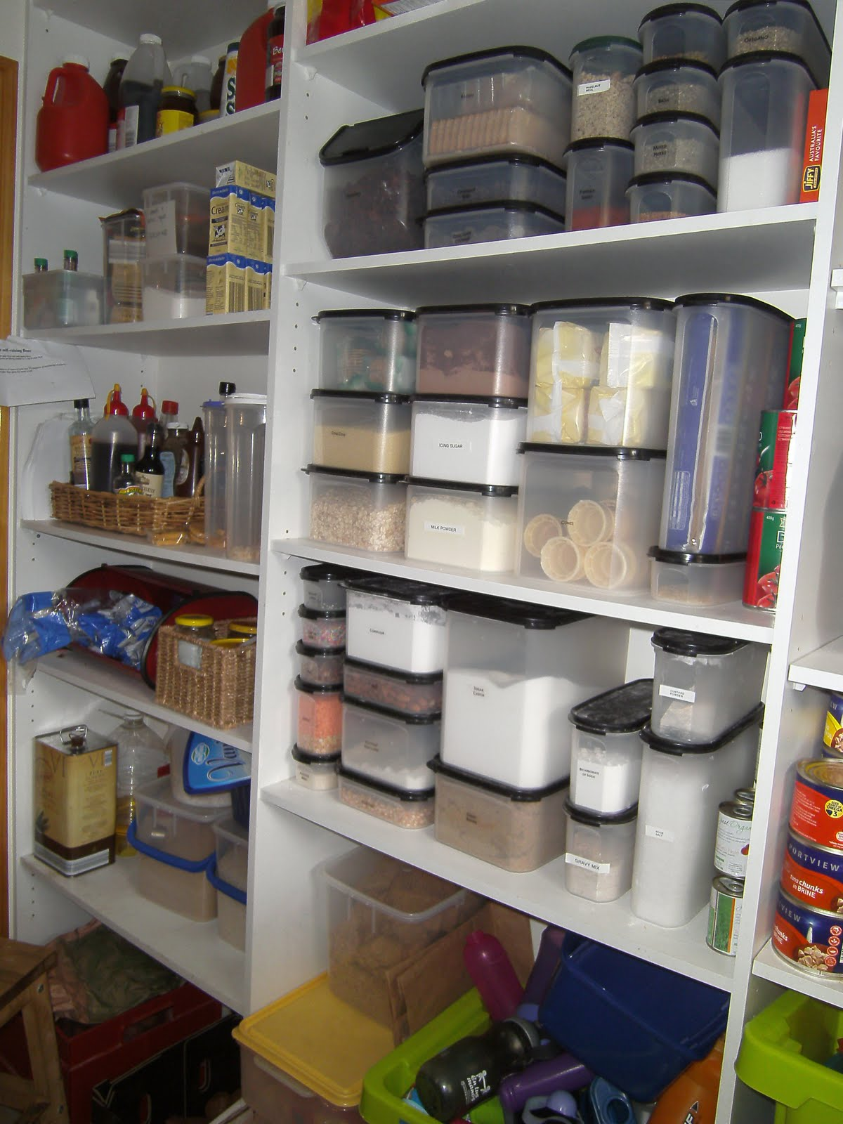Left: I LOVE Tupperware Modular Mates! On The Far Left, Bottles Stored In A  Basket U0026 And Below That Shelf, My Breakfast Condiments.