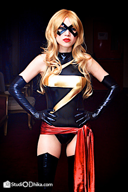 ms marvel, cosplay, sexy cosplay, chica, marvel