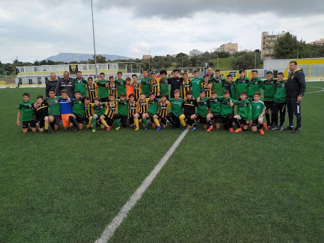 Η Ακαδημία ποδοσφαίρου του Αριστέα Άργους στα Σπάτα για αγώνες με την ΑΕΚ