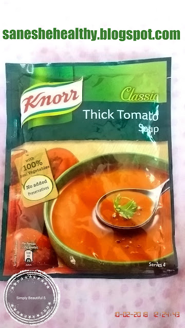 Knorr classic thick tomato soup comes in sachet too.