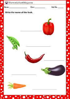 vegetable worksheets