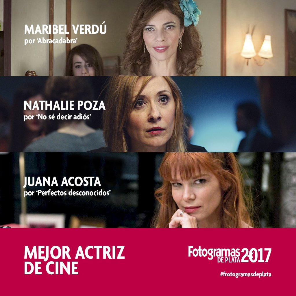 Los Amadores del Cine: LISTA DE NOMINADOS A LOS PREMIOS FOTOGRAMAS ...