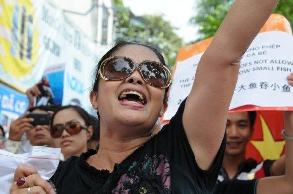 Kết quả hình ảnh cho Bùi Thị Minh Hằng biểu tình chống tàu