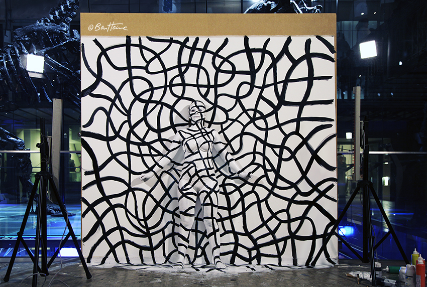 peinture acrylique - flesh and acrylic by ben heine