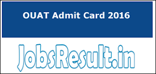 OUAT Admit Card 2016