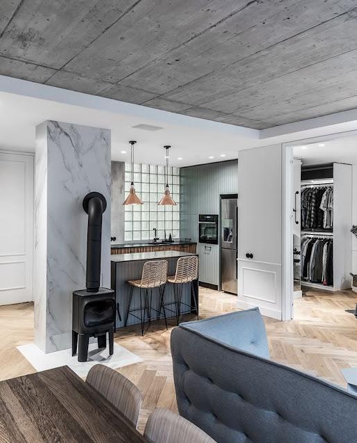 Дизайн-проекты. Эклектичная современная квартира в серых тонах