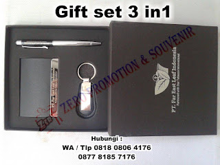 Jual gift set Premium 3in1