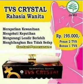 Jual TVS Crystal Untuk Keputihan Berlebih Dan Perapat Vagina Di Aceh Timur. (Telp/SMS/WA) : 08232681