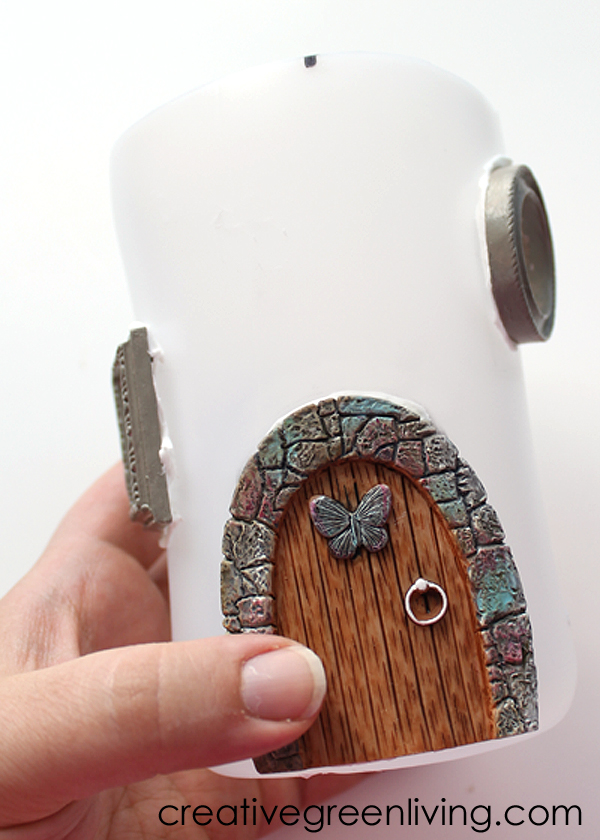 How to make a solar powered fairy house creative green How to make a fairy door out of clay
