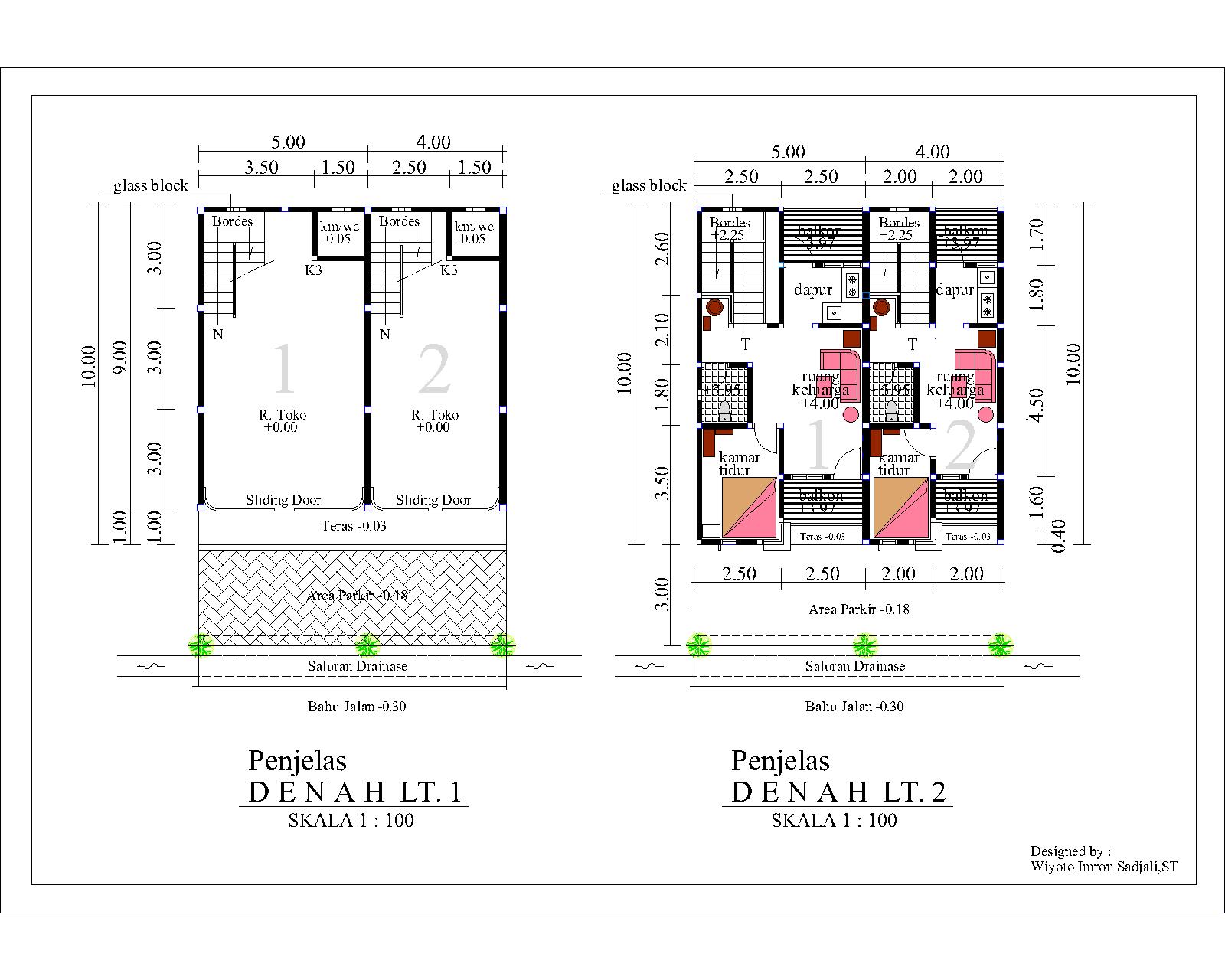 Desain Rumah 1 Lantai Ukuran 5X12 Denah Rumah