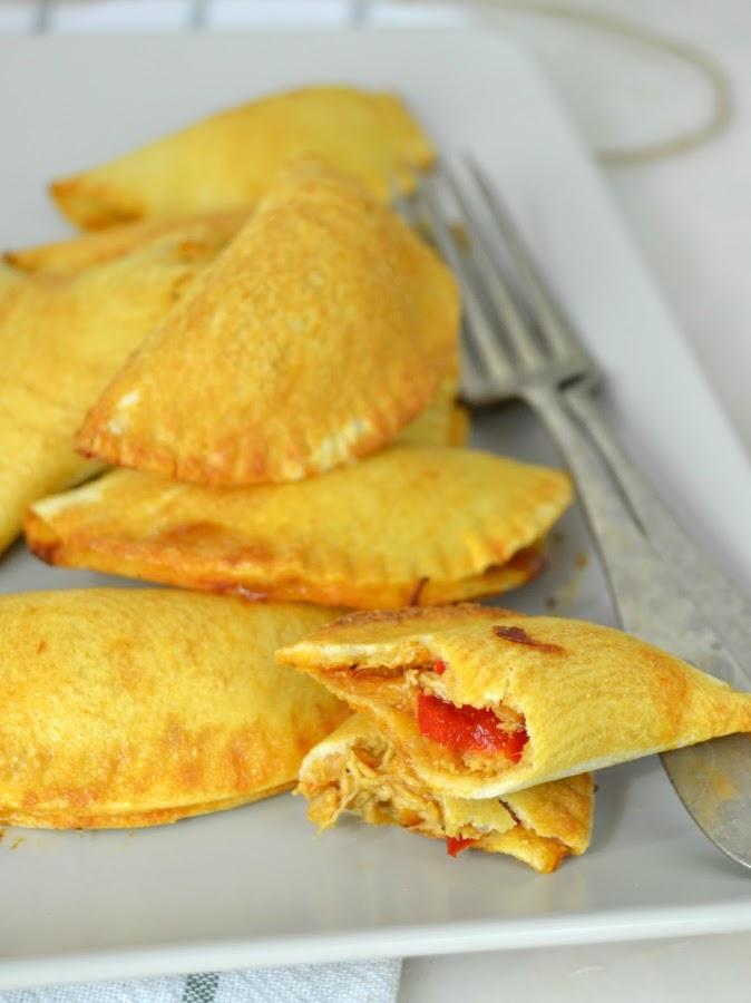 Empanadillas de pollo al horno ¡Con pan de molde!