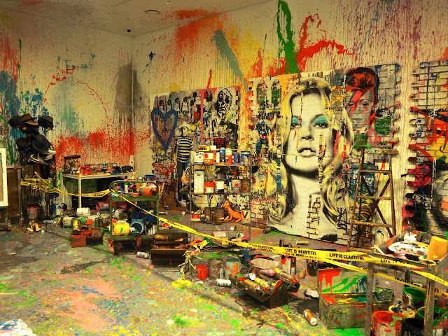 Mr Brainwash's studio at the ARA Modern Art Museum, Seoul, South Korea