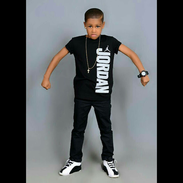 Actress Angela Okorie's Son Celebrates His 6th Birthday With Cute Photoshoot2