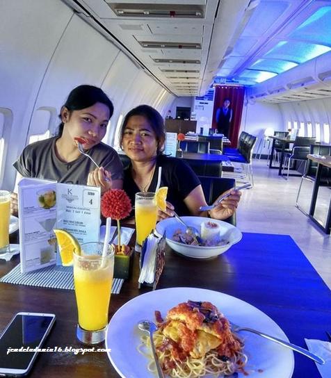 Wisata Kuliner Keramas Aero Park, Rumah Makan Pesawat Terbang Yang Unik Dan Keren Di Bali