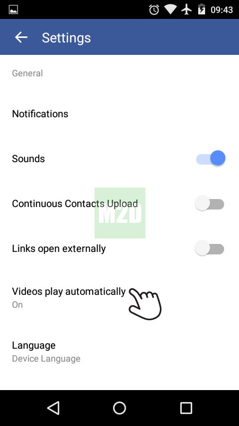 Videos play automatically