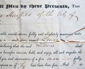 Manumission Document Tells Story Emancipation in NY