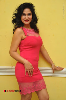 Telugu Actress Vijaya Murthy Stills in Red Short Dress at Www.Meena Bazaar Movie Opening  0009.JPG