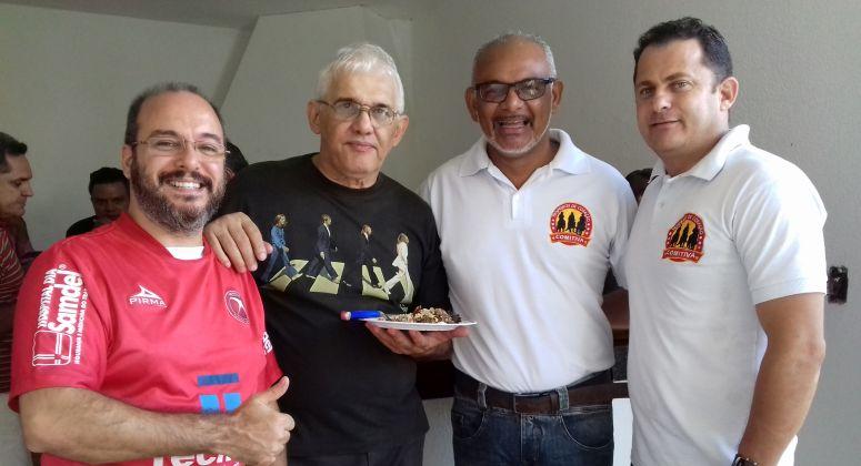 à esquerda Emerson Tormann (Atualidade Política) e Acilino Ribeiro