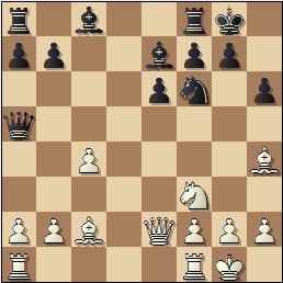 Partida de ajedrez Albareda - Bordell, 1957, posición después de 15…Da5