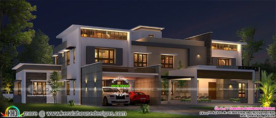 5 BHK contemporary style 508 sq-ft house plan