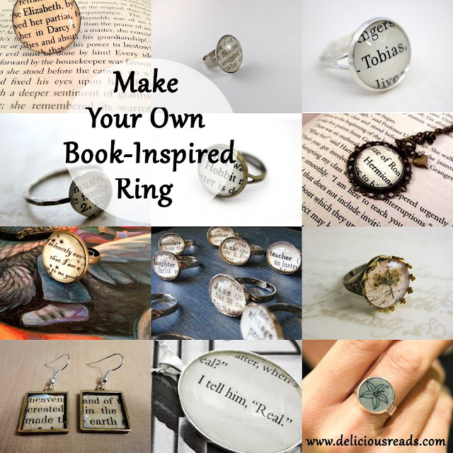 Make your own book jewelry