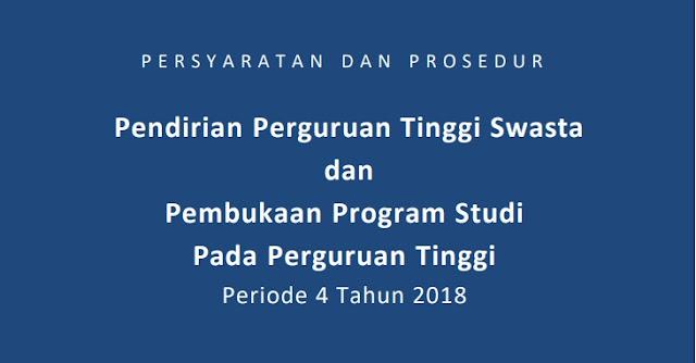 Persyaratan Dan Prosedur Pembukaan Program Studi Pada Perguruan