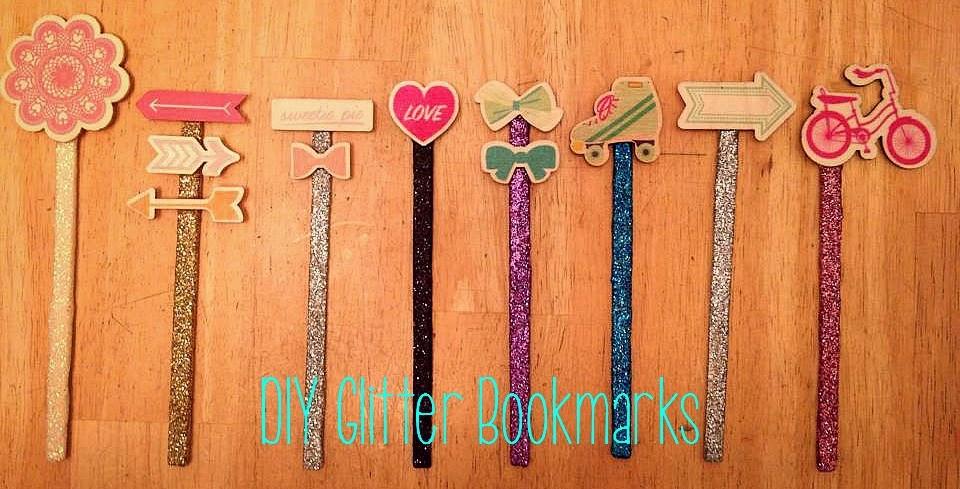 http://lizsbookbucketlist.blogspot.com/2014/07/diy-glitter-bookmarks.html