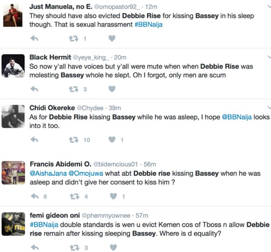 Fans Ask For Debie-Rise To Be DisqualifiedToo For Kissing Bassey As