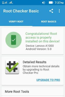 Cara Root Lenovo A1000 Lolipop tanpa Pc