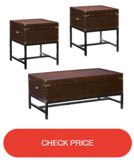 Southport 3 Piece Trunk Coffee Table Set