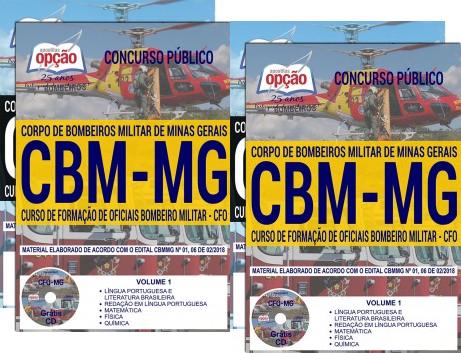 apostila para o concurso Bombeiros-MG curso de formação de oficiais - CFO 2018.