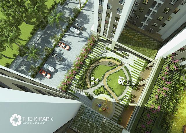 Vườn treo và cảnh quan xanh dự án THE K-PARK