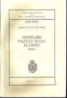 Vocabulario político-social en España