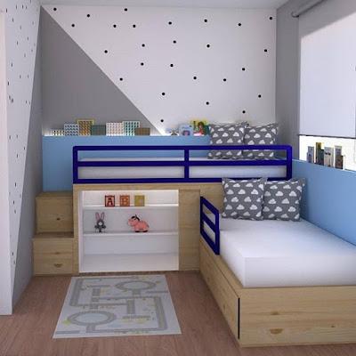 desain kamar tidur kecil unik