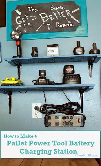 Free Power Tool Battery Charging Station Plans