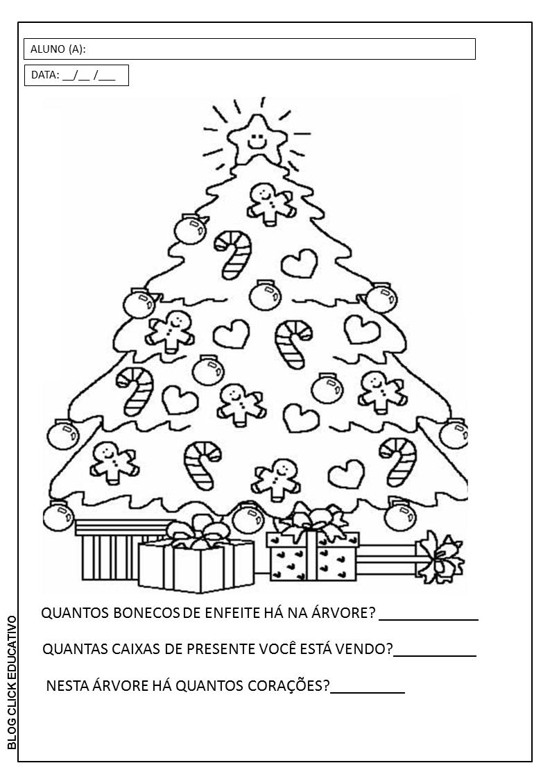 Percepcao Visual E Raciocinio Logico Arvore De Natal Para Colorir