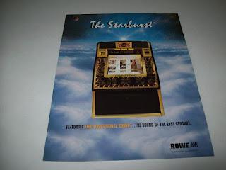 ROWE AMI LASERSTAR THE STARBURST ORIGINAL NOS JUKEBOX SALES FLYER BROCHURE 1998