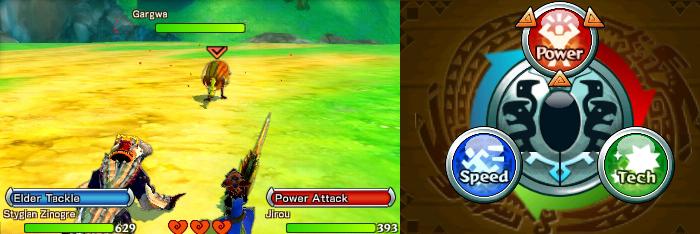 Monster Hunter Stories battle