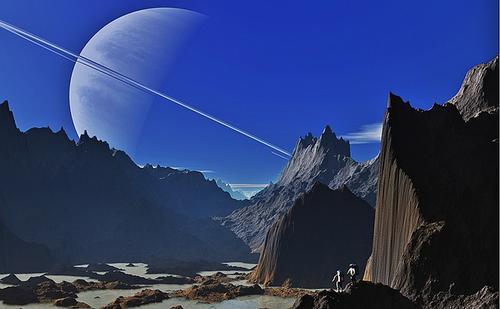 Saturn landscape
