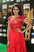 Saisha looks Glamorous Super cute in Transparent Red Gown at IIFA Utsavam Awards 012.JPG