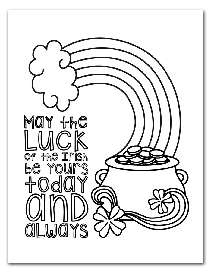 Impertinent image inside printable st patrick day coloring pages