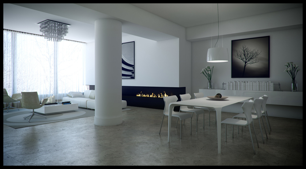Download fully 3ds max scene of private apartments - Autodesk 3ds max interior design ...