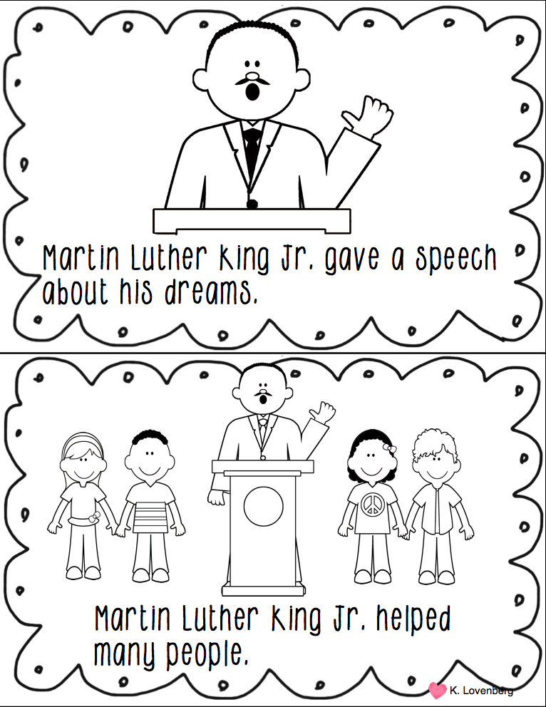 Happy Little Kindergarten: Martin Luther King Jr. Mini Unit