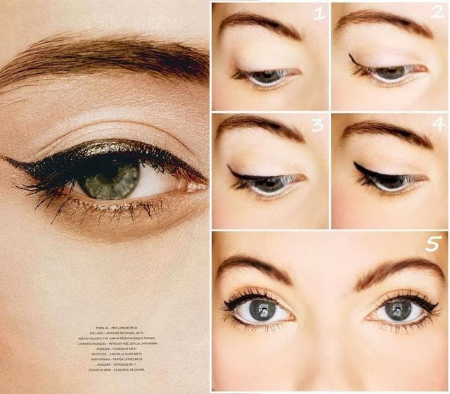 Tendance eye liner bronze