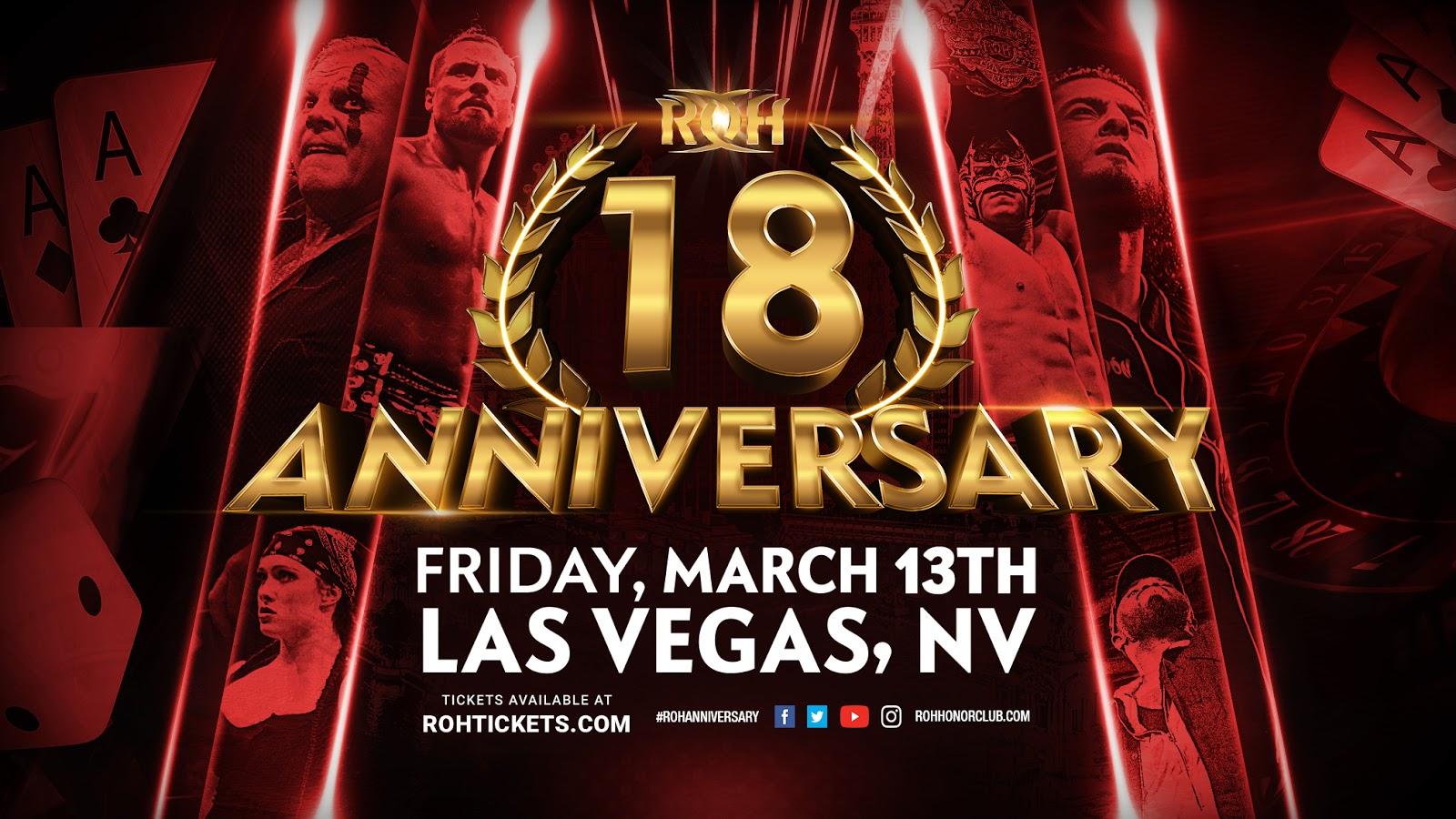 ROH 18th Anniversary: Jeff Cobb substituirá Adam Brooks!
