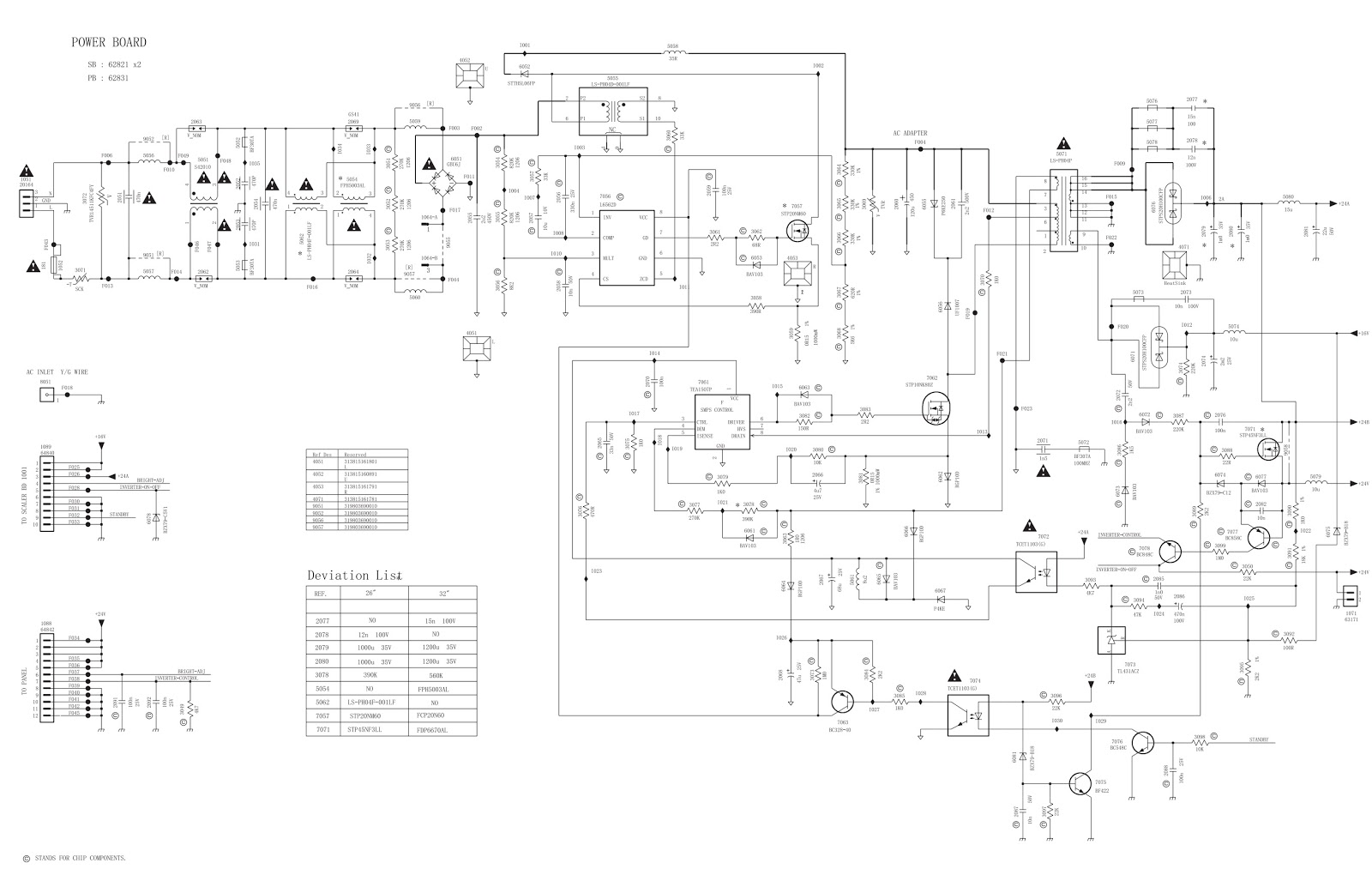Schematic Diagrams Philips 26md251d Lcd Tv Power