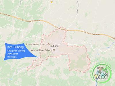 PETA : Kecamatan Subang, Kabupaten Subang, Jawa Barat