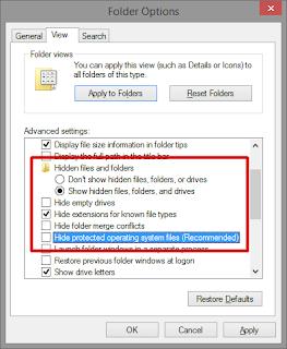Menampilkan Folder yang Hidden di Windows 7, 8, 8.1