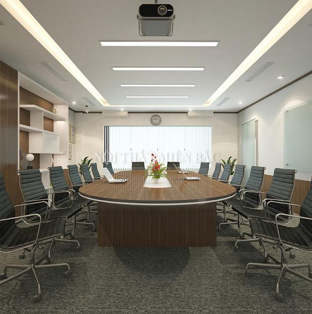 Mẫu bàn họp nhập khẩu hình oval độc đáo cũng là sự lựa chọn mới mẻ cho các không gian phòng họ