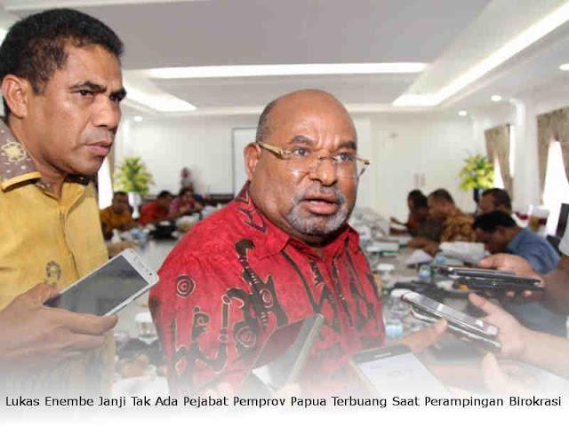 Lukas Enembe Janji Tak Ada Pejabat Pemprov Papua Terbuang Saat Perampingan Birokrasi